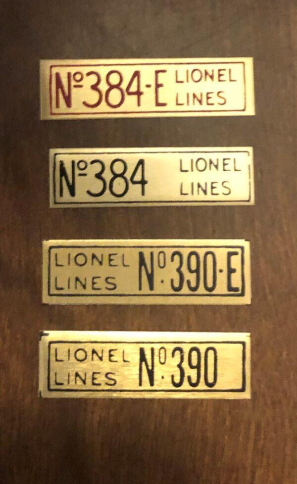384 390 Loco Plates