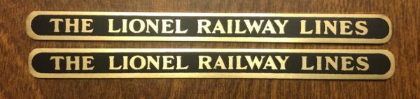 Lionel 385T Tender Name Plates Brass