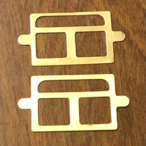 Ives 135, 136, 140 Window Frames Brass
